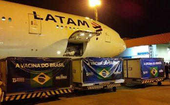LATAM traz para o Brasil 5,4 mil litros de insumos para a fabricação da CoronaVac